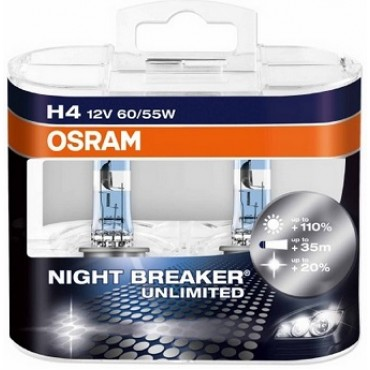 Par Lampadas Osram Night Breaker H4